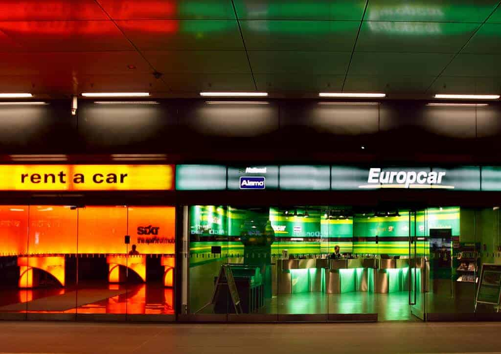 You have many options for renting a car.