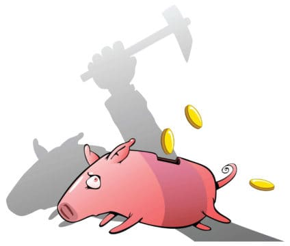 Avoid cashing out investments and assets