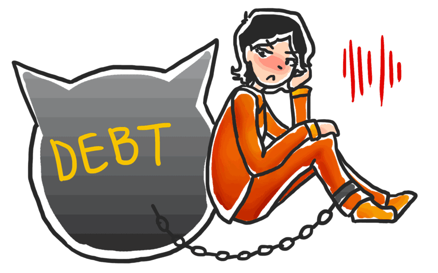 Can you be locked down because of debt?
