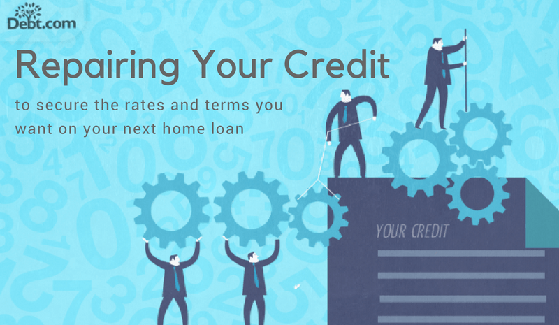 Repairing your credit to secure the rates and terms you want on your next home loan