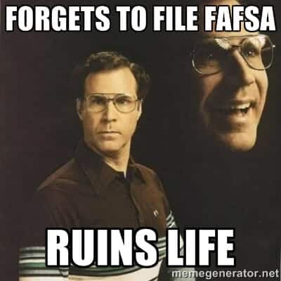 An alternate FAFSA tweet
