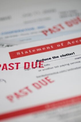 If you have past-due debts, they may pass to third-party collectors
