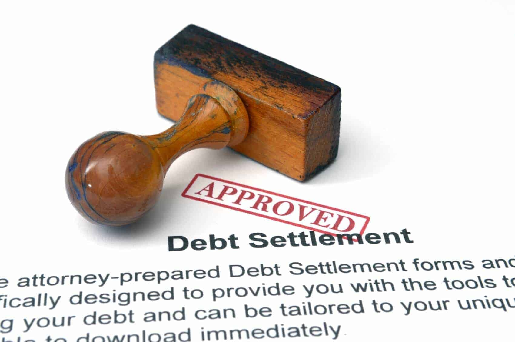 Only some debts can be approved for settlement