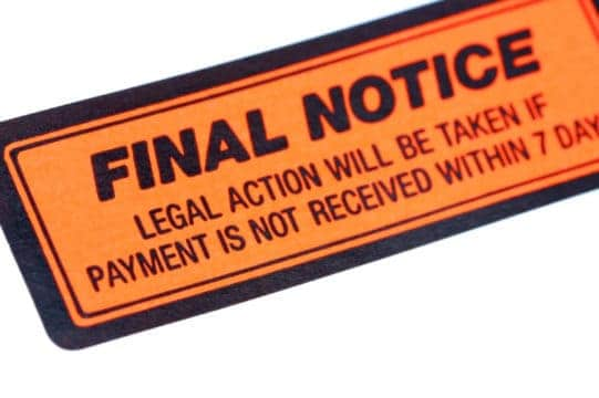 How many people faced final notice debt collection actions this year?