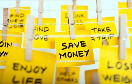 Money saving resolutions