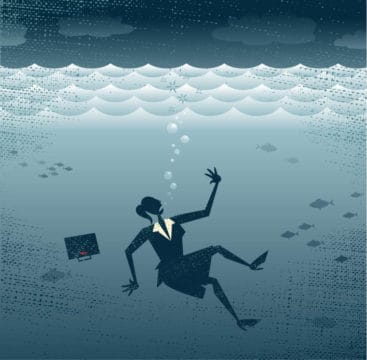 What happens when you can't stay afloat and fall behind with credit card payments
