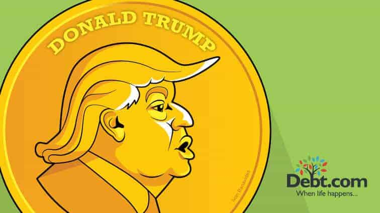 Donald Trump mints a coin in his own image (illustrated)