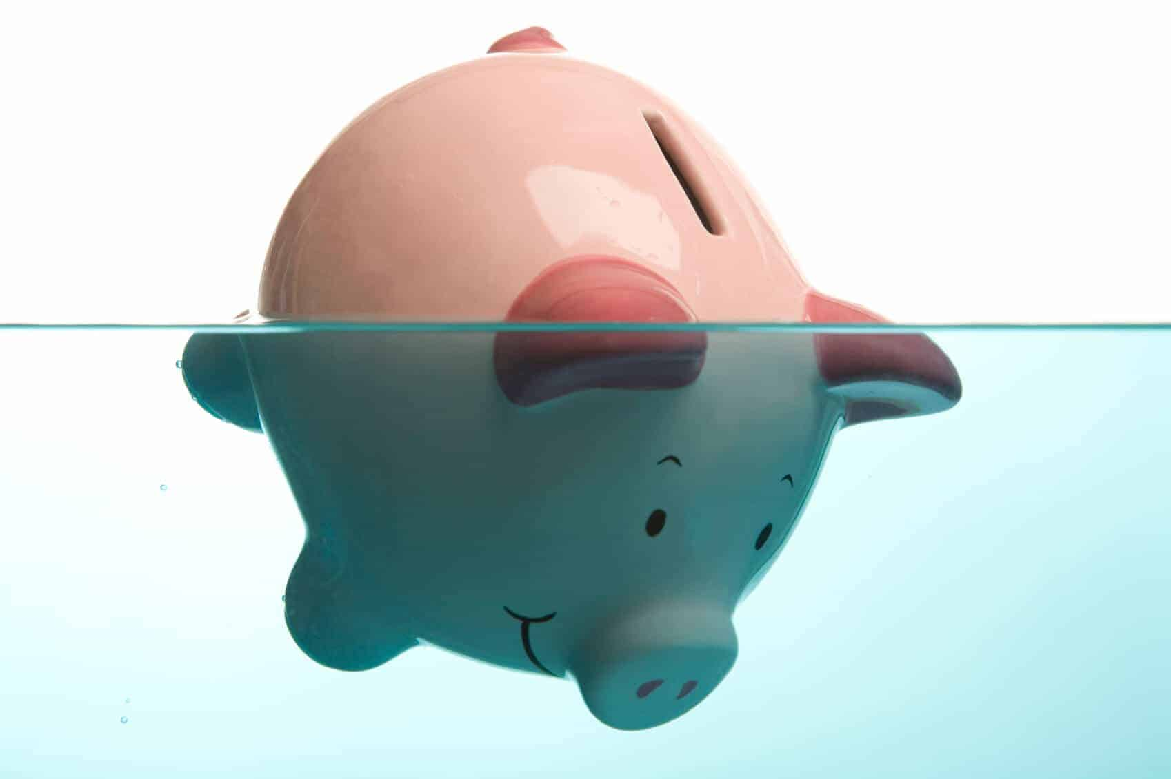 get out of debt fast piggy drowning