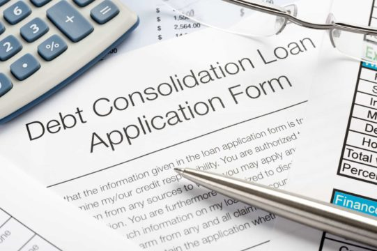 Debt consolidation loan application form