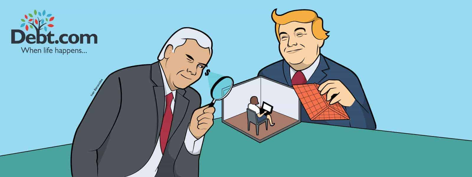 Donald Trump and Mike Pence snoop on you in the privacy of your home (illustrated)