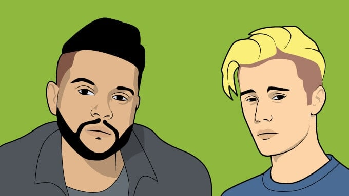The Weeknd and Justin Bieber