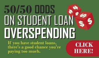 Infographic: 50/50 Odds on Student Loan Overspending: If you have student loans, there's a good change you're paying too much
