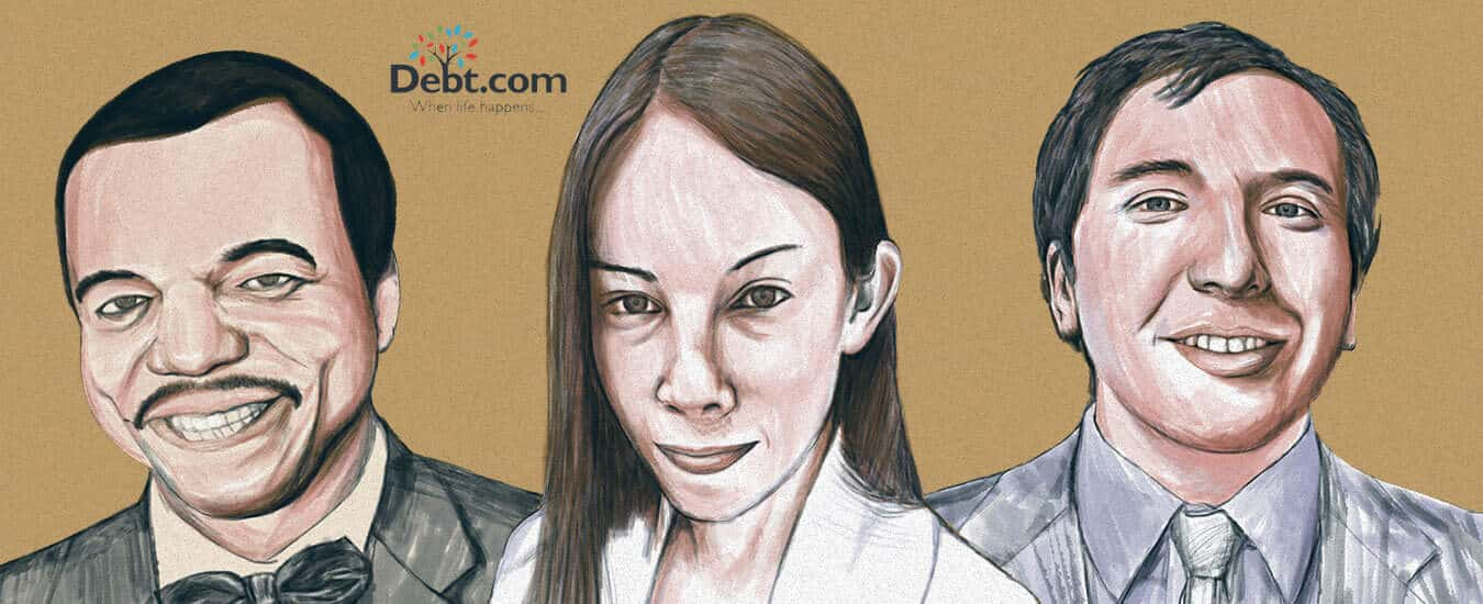 Illustration of three Americans who made financial mistakes because of spending habits and budgeting