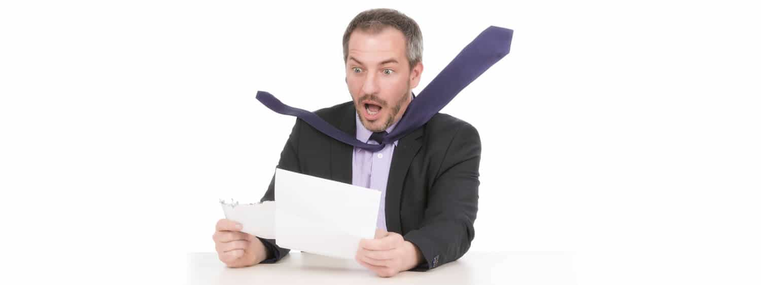 Man is in shock over his back taxes bill
