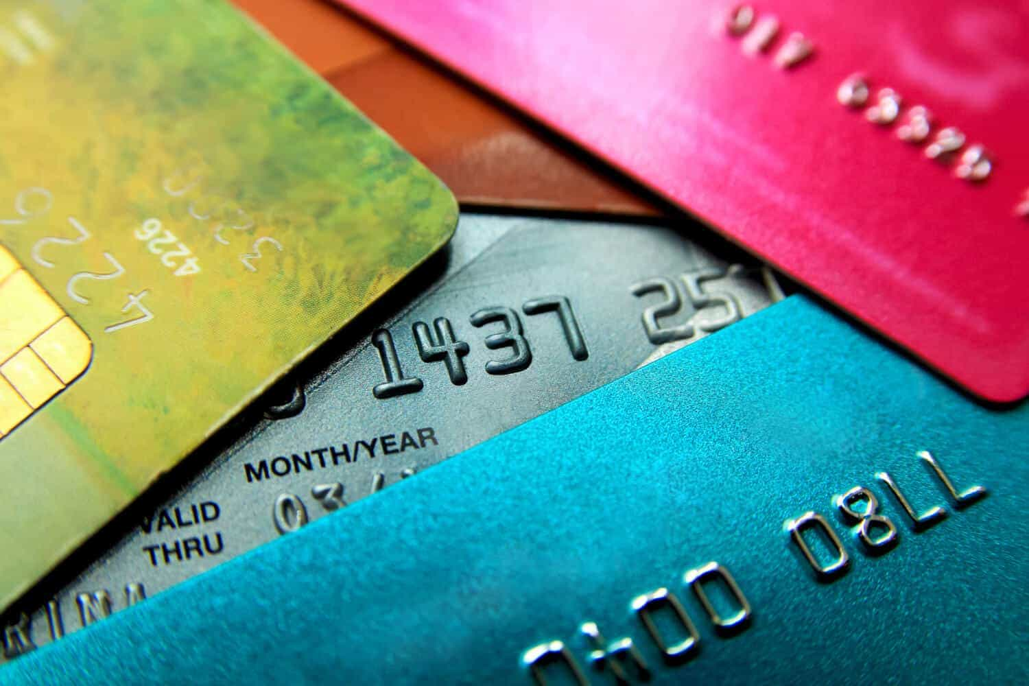 Too many credit cards can be bad for your credit, even if they are as colorful as these
