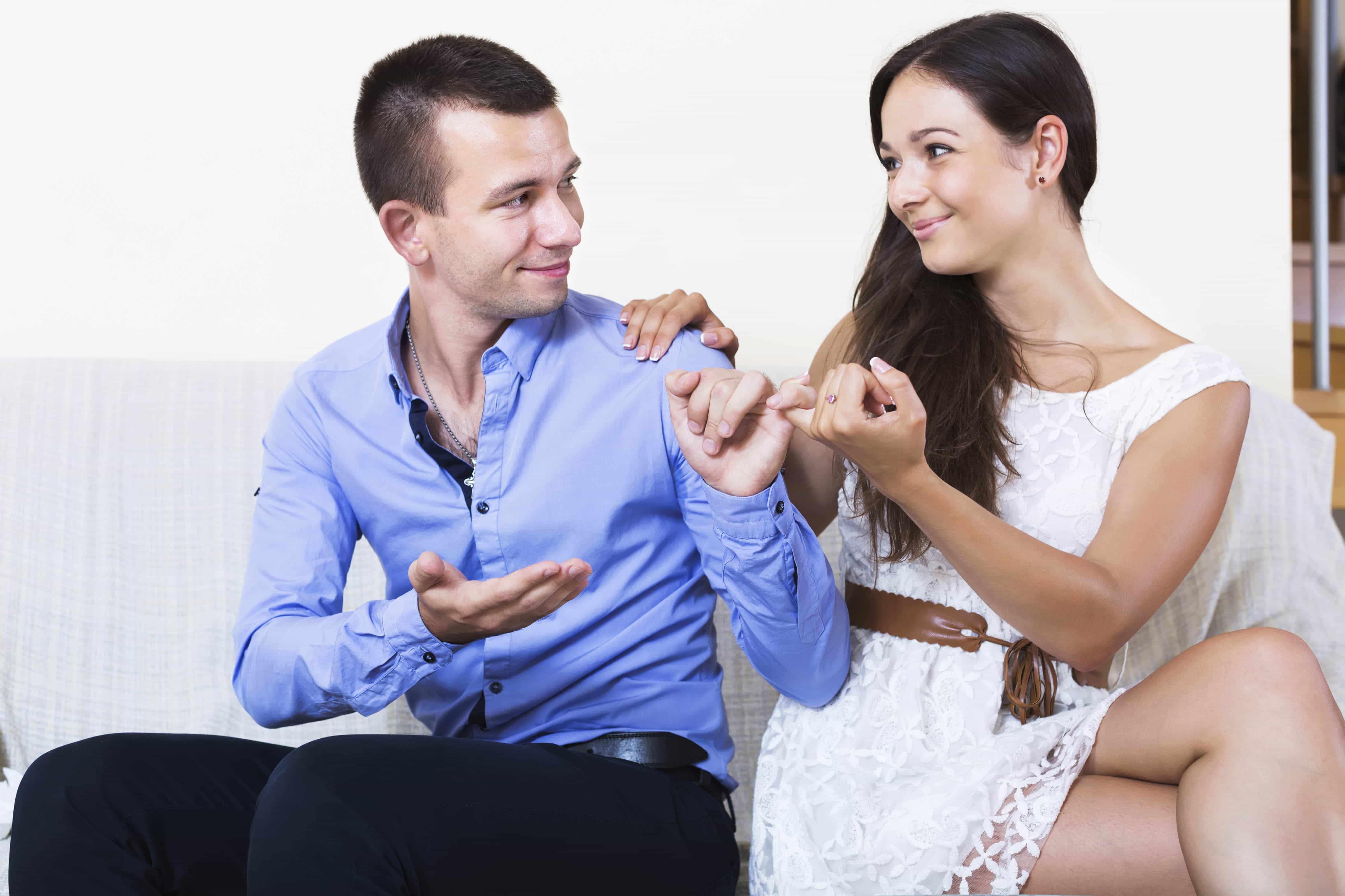 Pinky swear that you won't hide money from your significant other and commit financial infidelity