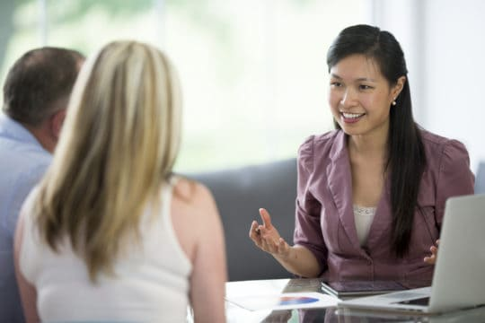 Financial planning with an adviser about work 401ks