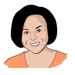 Brittany Gamble, Debt.com sweepstakes winner (illustrated)