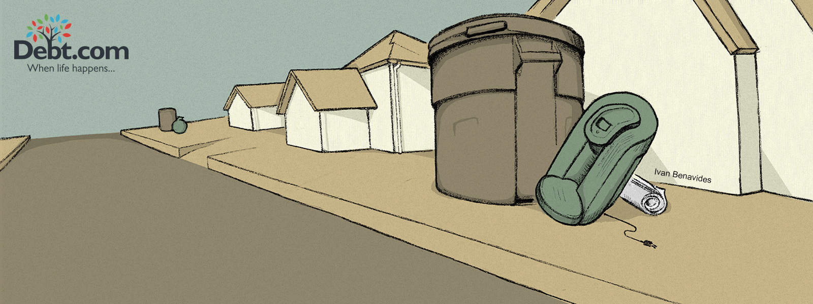 A Keurig coffee maker is thrown out with the trash (illustrated)