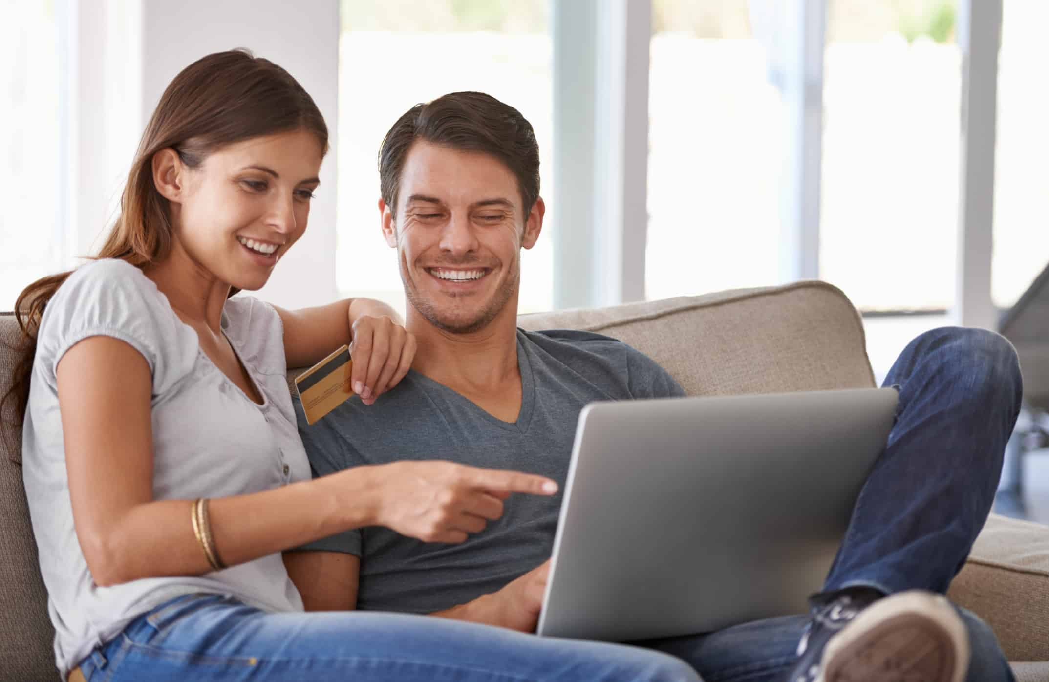 Couple is happy to discover their credit card reward points