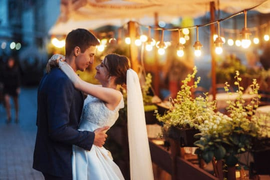 This dancing couple shows a frugal wedding can still be great