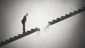credit and debt relief in the form of a broken staircase