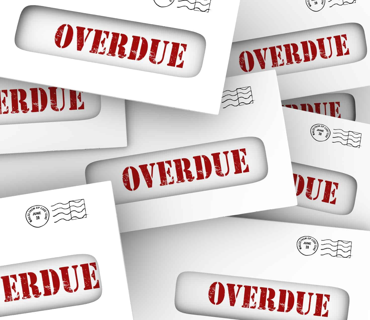 Overdue debt quickly offsets any positive steps you take when building credit