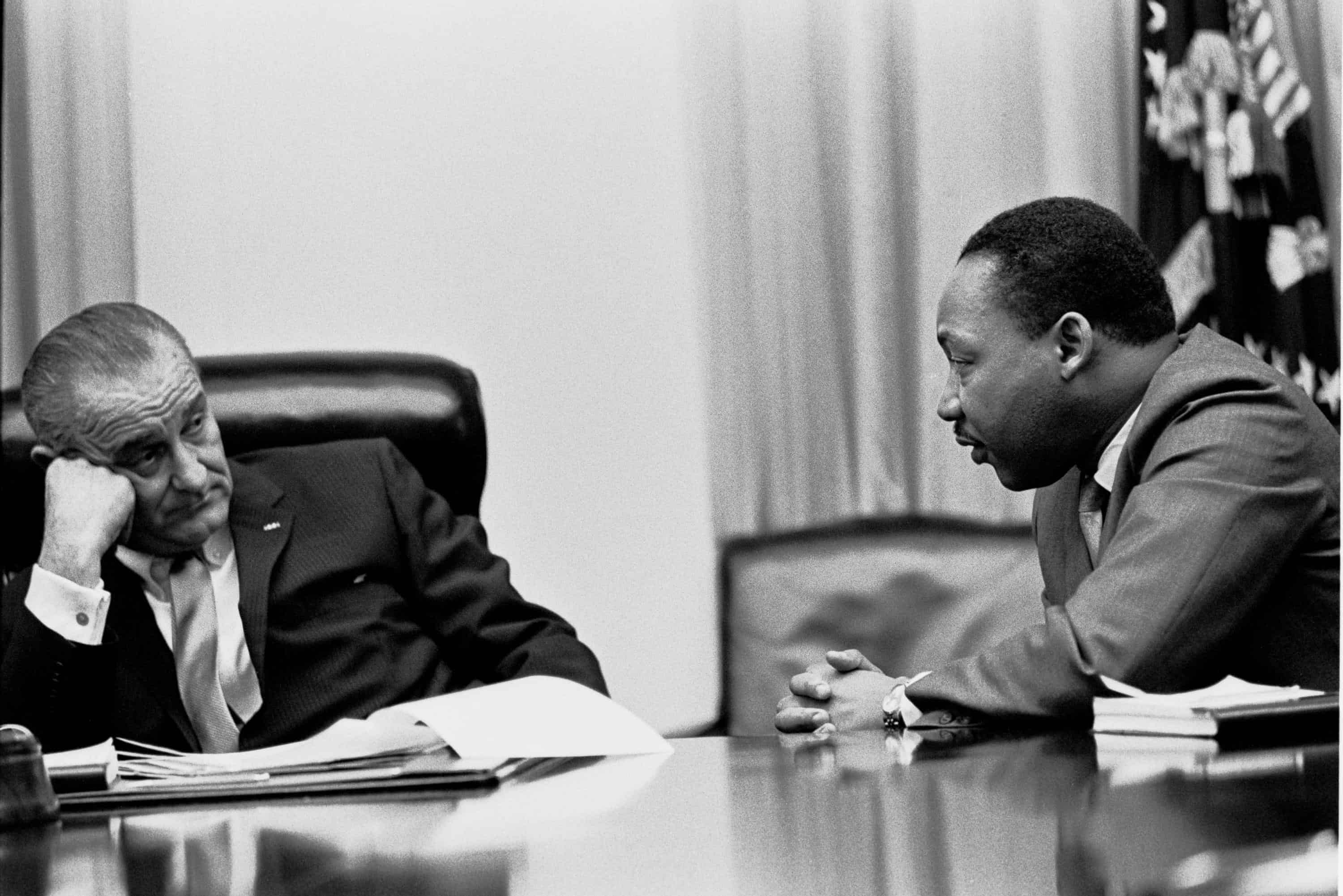 Martin Luther King Jr. teaches president Lyndon Johnson about money