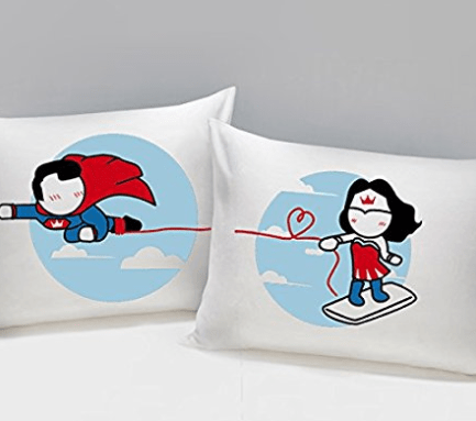 superhero, pillowcases, wonder woman, supeman