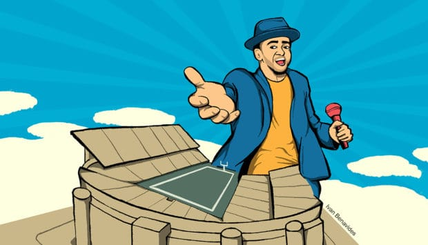 Justin Timberlake performs at the Super Bowl for free (illustrated)