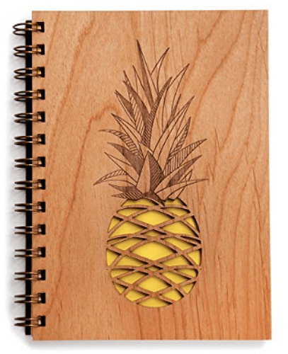 pineapple wood journal