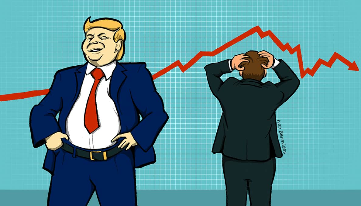 Donald Trump is proud of tax cuts that have done nothing for the stock market (illustrated)