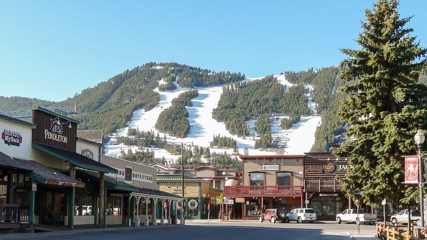 Jackson Hole ski slopes in Wyoming