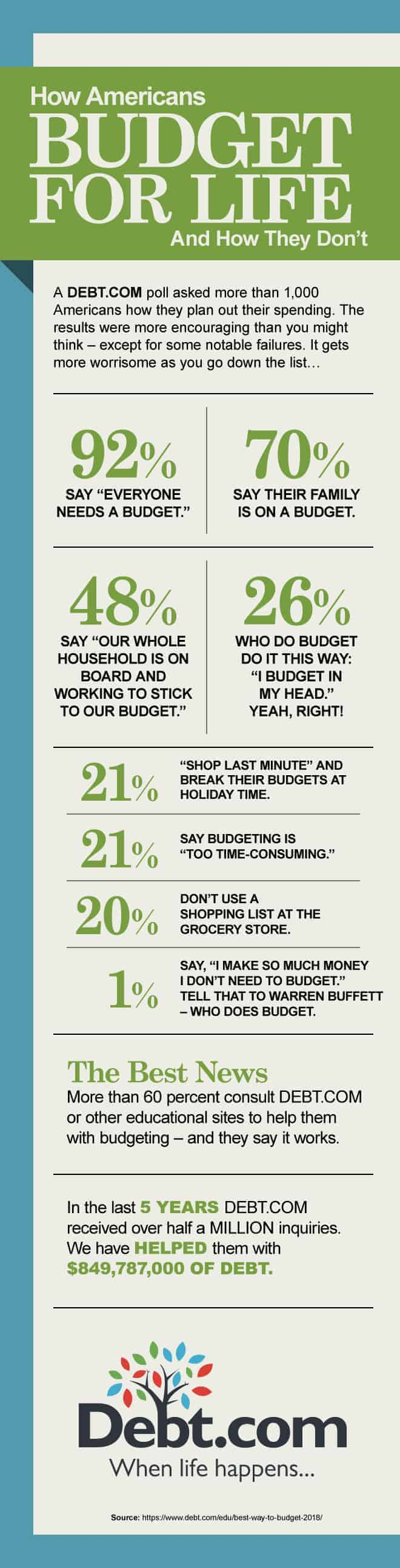 budget survey results infographic