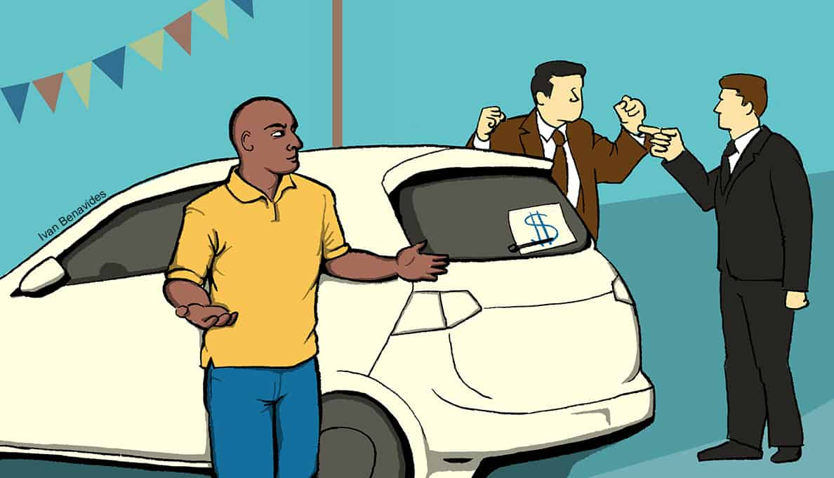 Consumers want to buy cars but aren't sure who is on their side when it comes to auto loans (illustrated)