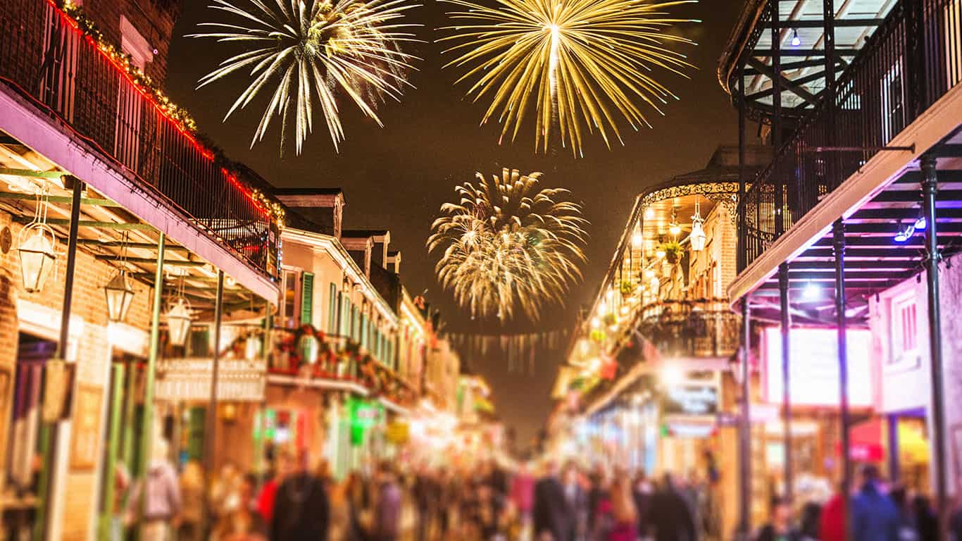 New Year's in New Orleans, Louisiana