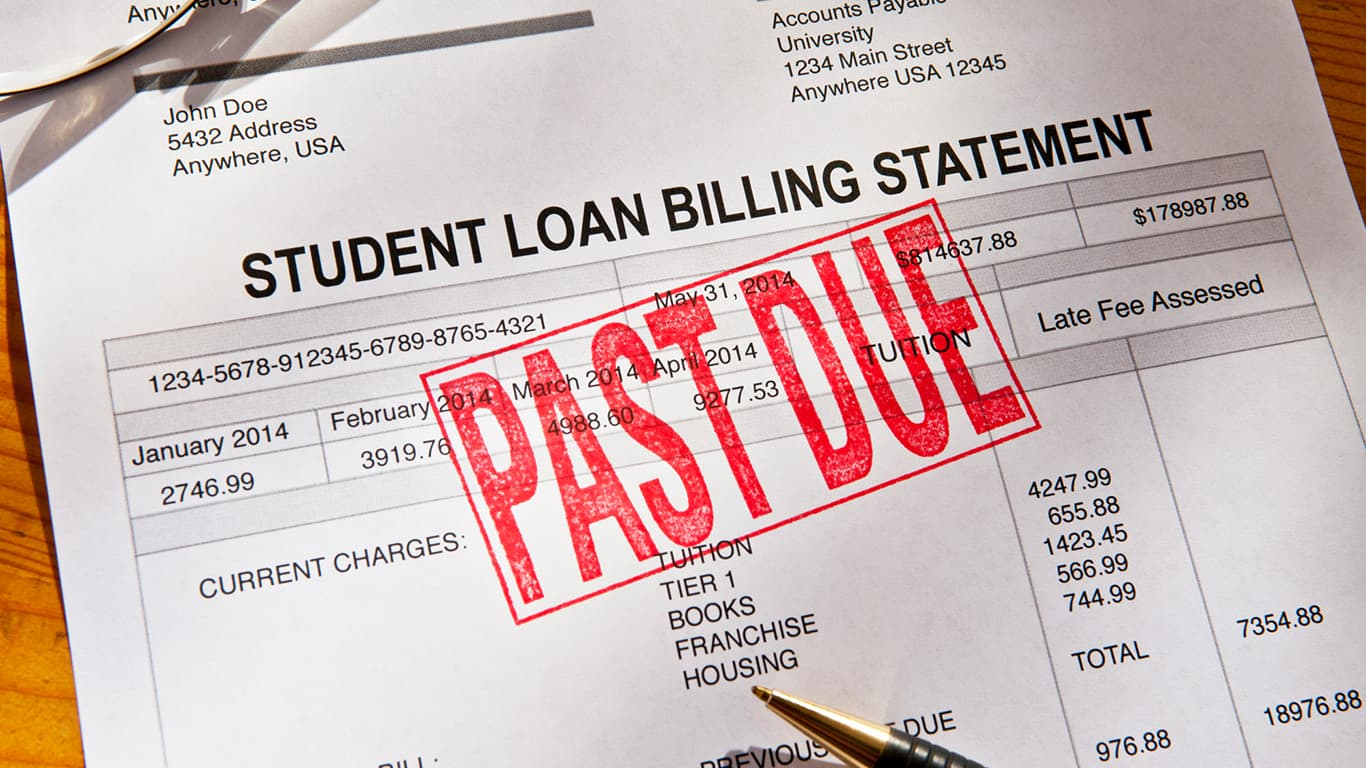 Past due student loan payment