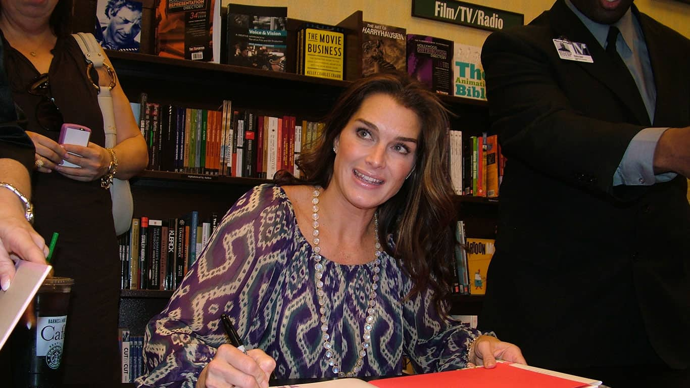 Brooke Shields at book signing