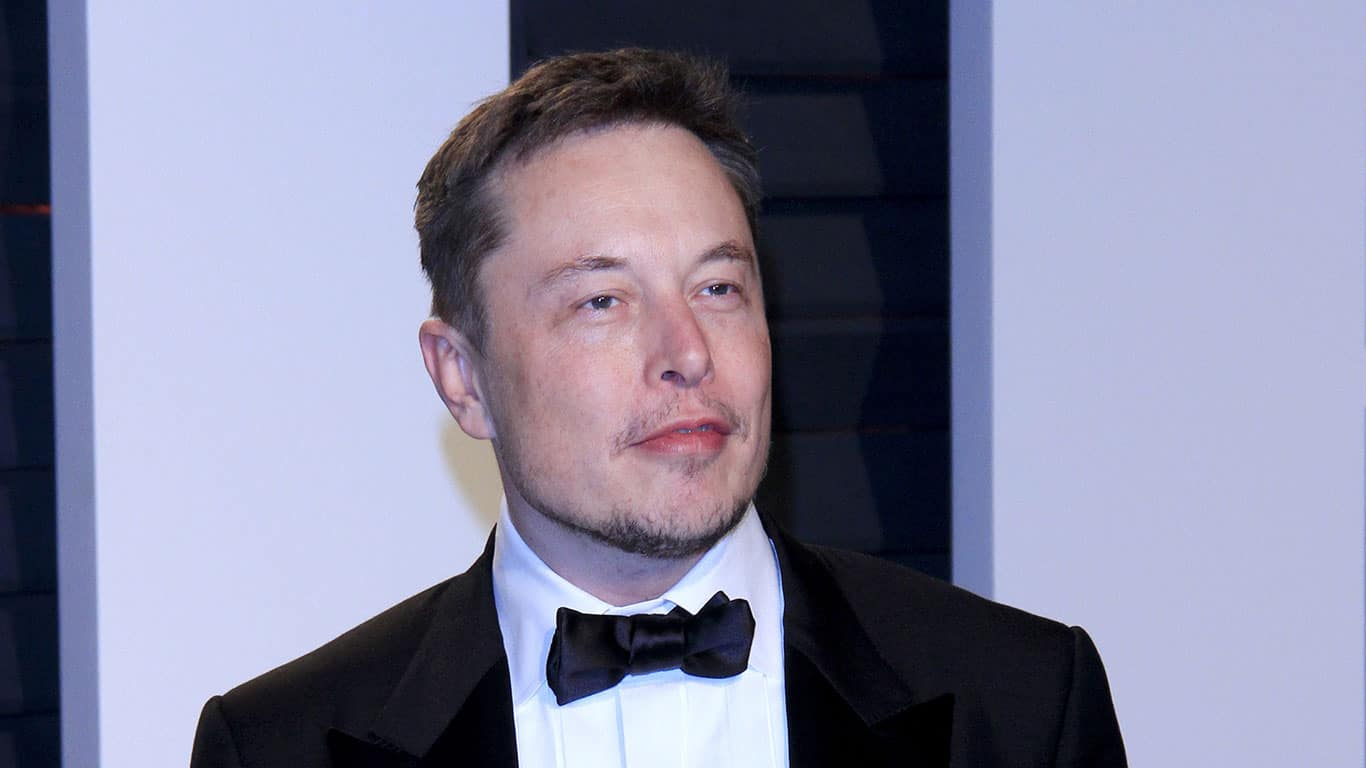Elon Musk at the 2017 Vanity Fair Oscar Party at the Wallis Annenberg Center