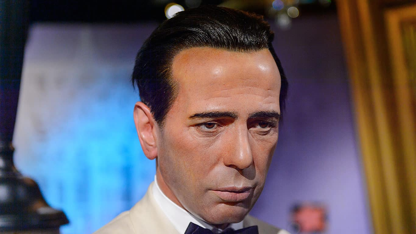 Humphrey Bogart, Madame Tussauds wax museum. It is a major tourist attraction in London
