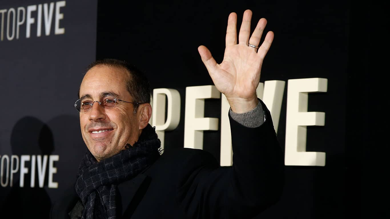 Comedian Jerry Seinfeld attends the