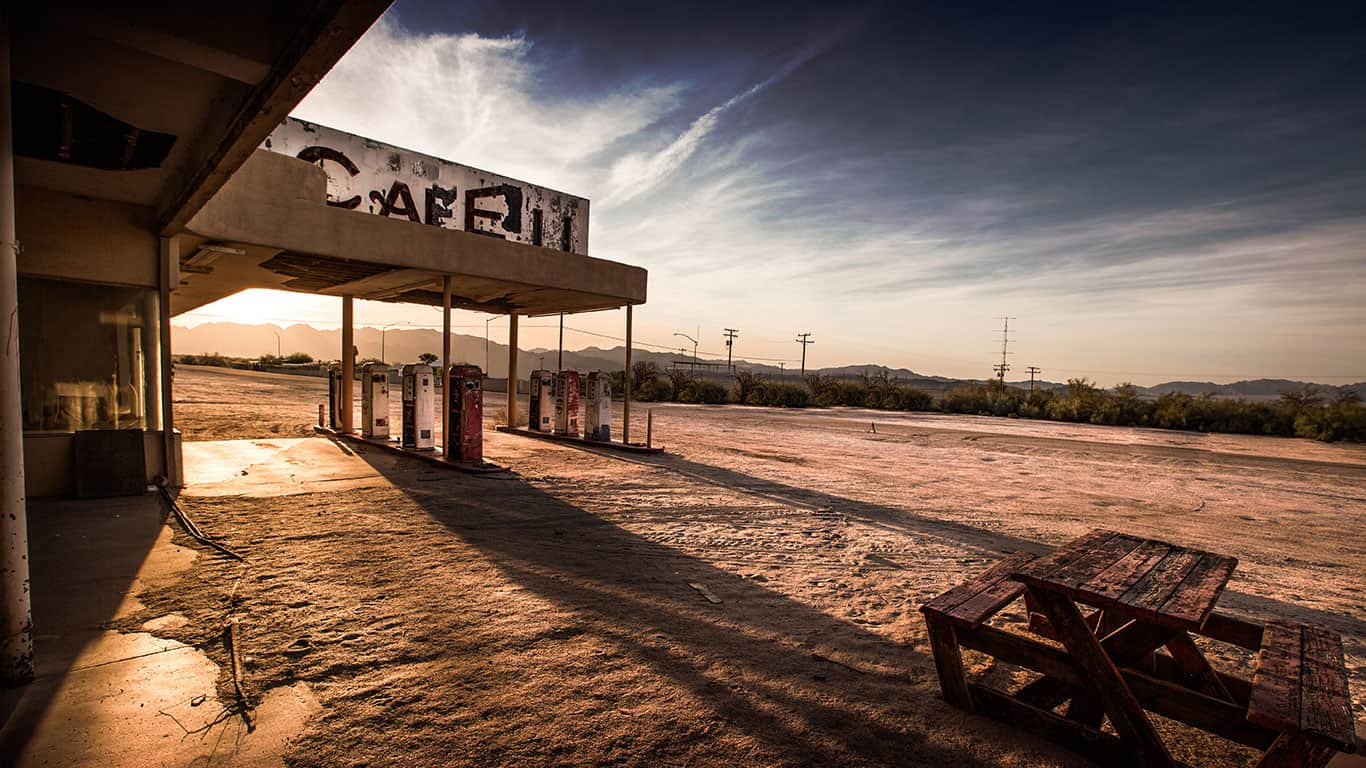 Abandoned Cafe in the Desert