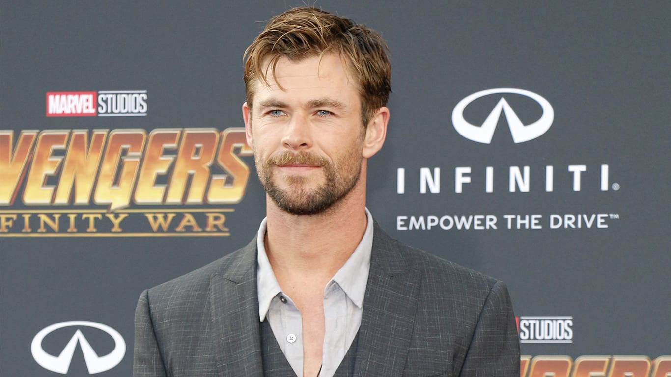 Chris Hemsworth at the premiere of Disney and Marvel's 'Avengers: Infinity War' held at the El Capitan Theatre