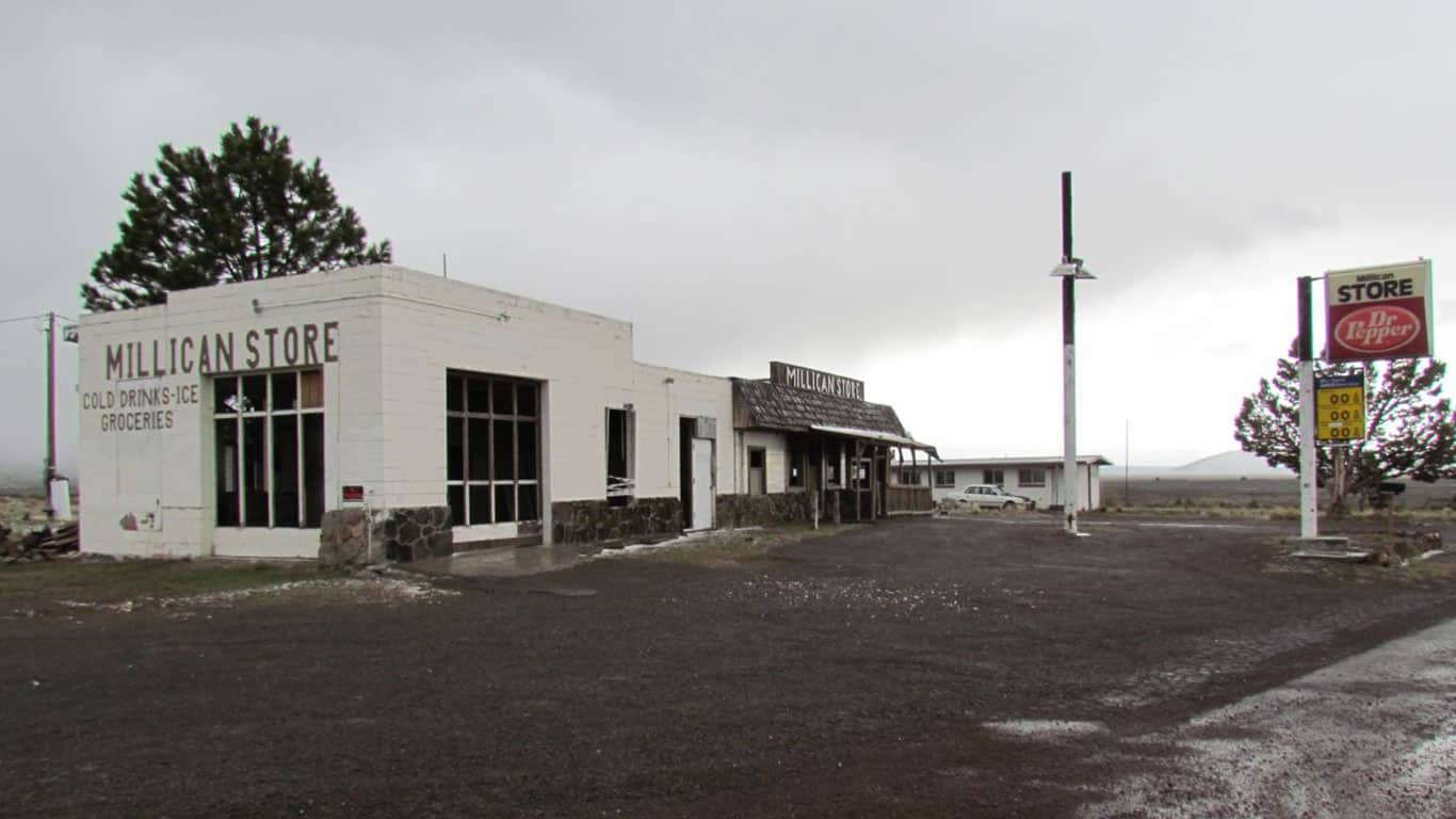 Millican, Oregon, an unincorporated community in Deschutes County