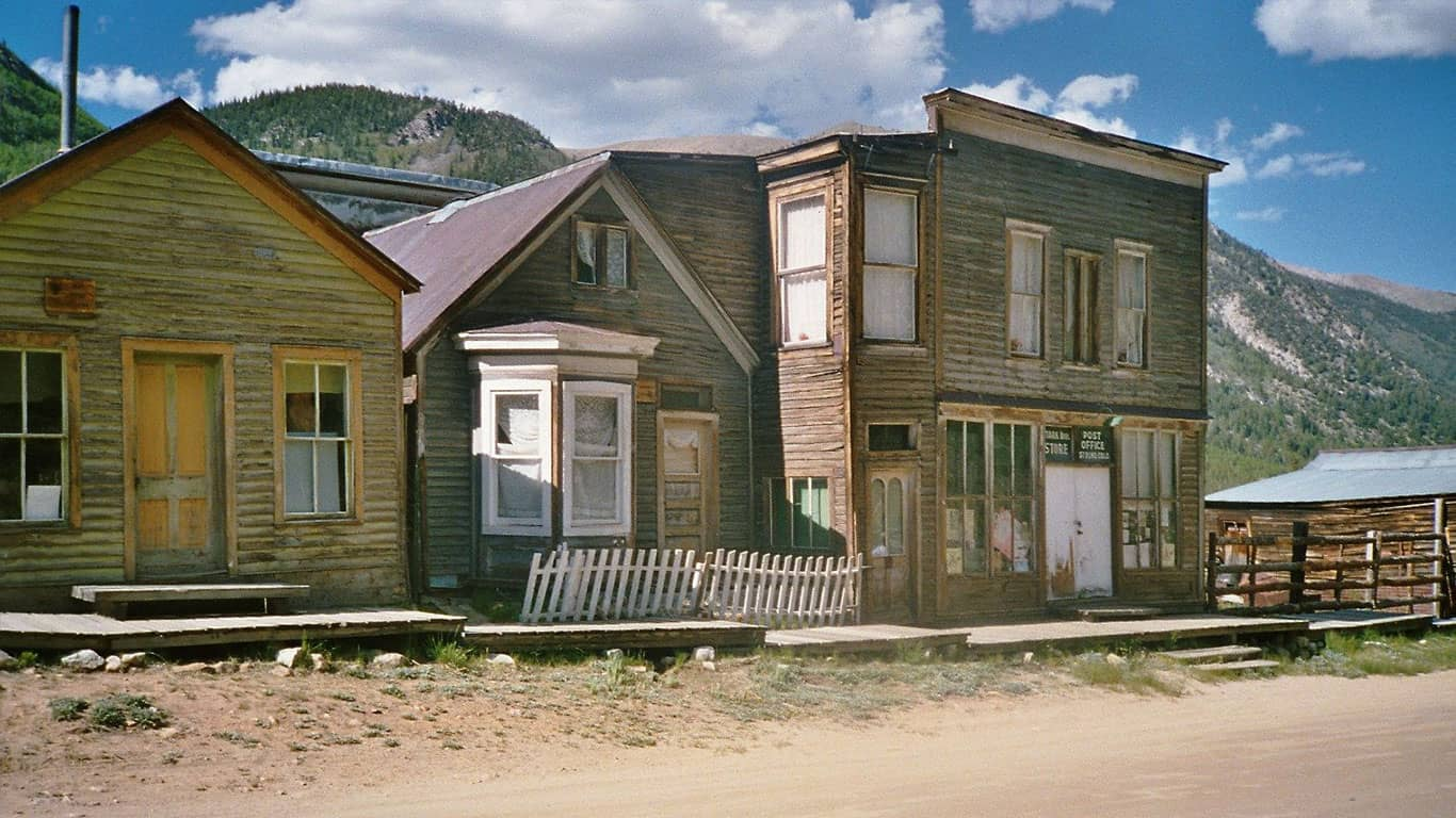 Scene in the ghost town of St. Elmo in Chaffee County, Colorado, United States.