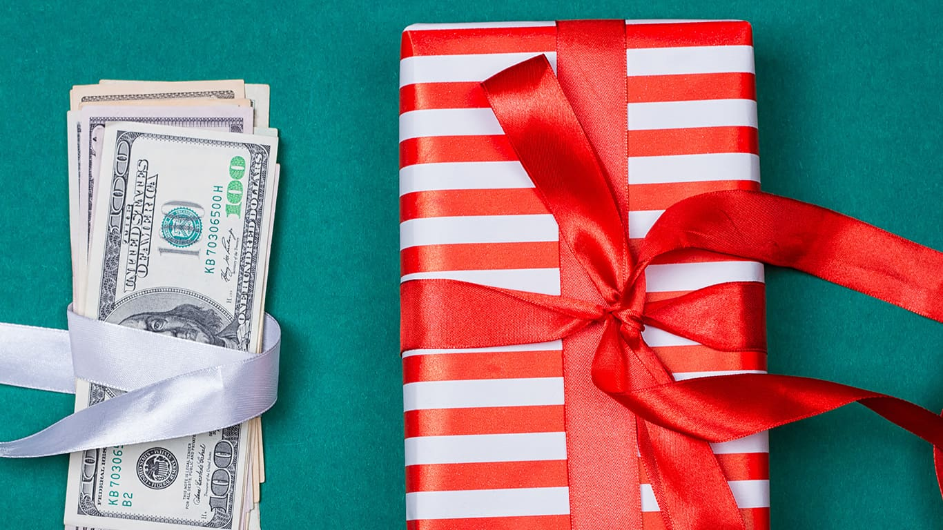 American Money with Gift Box