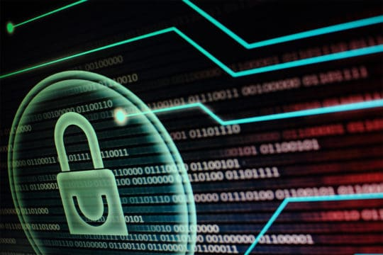 Computer monitor displaying padlock. Data breaches on the rise have IT workers nervous for upcoming threats.