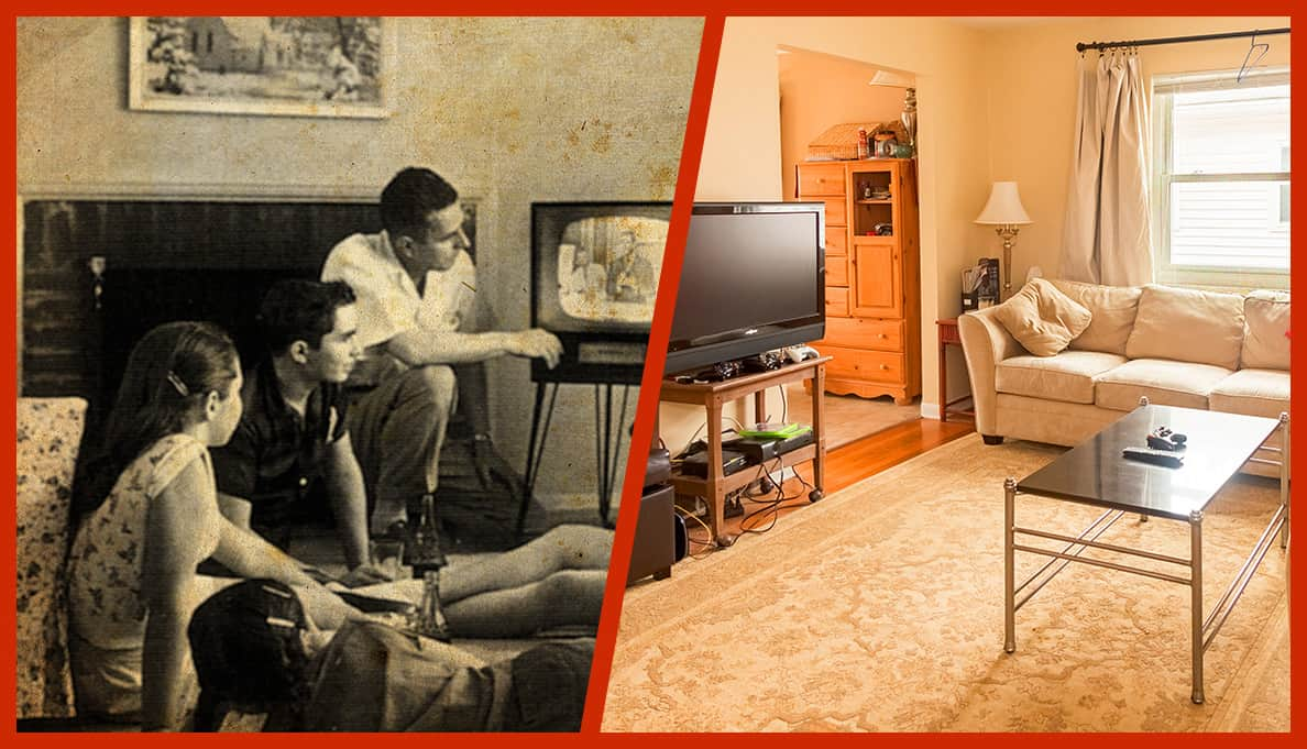 Comparing the prices a vintage tv tubes to modern day hd flat screens