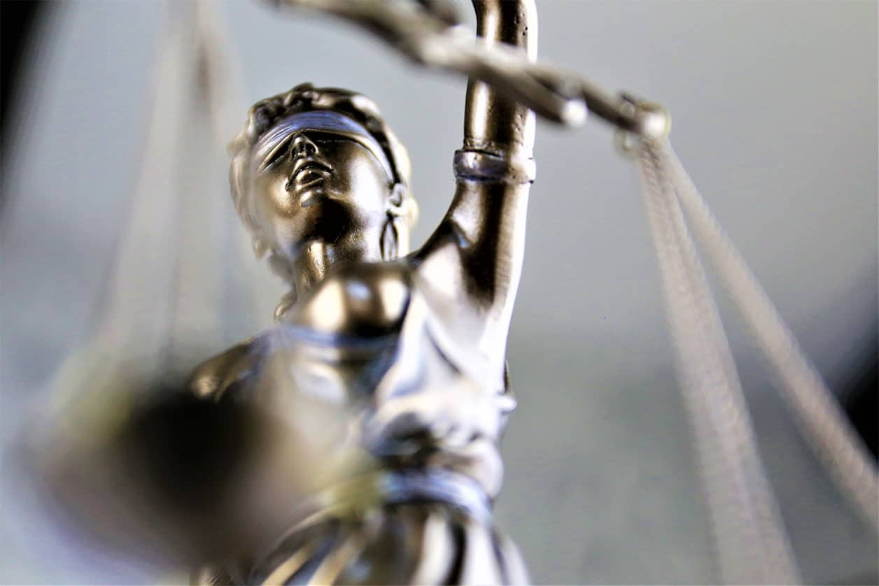 An concept Image of a justice statue, symbolizing