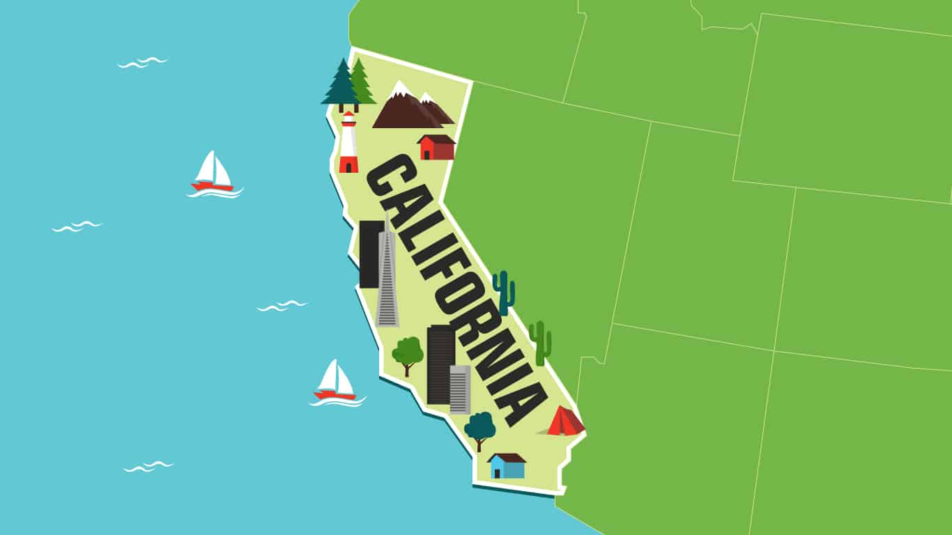 Illustration of California.